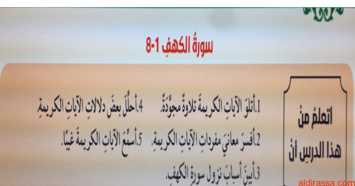 الحل للوحدة الأولى تربية إسلامية الصف العاشر الفصل الاول