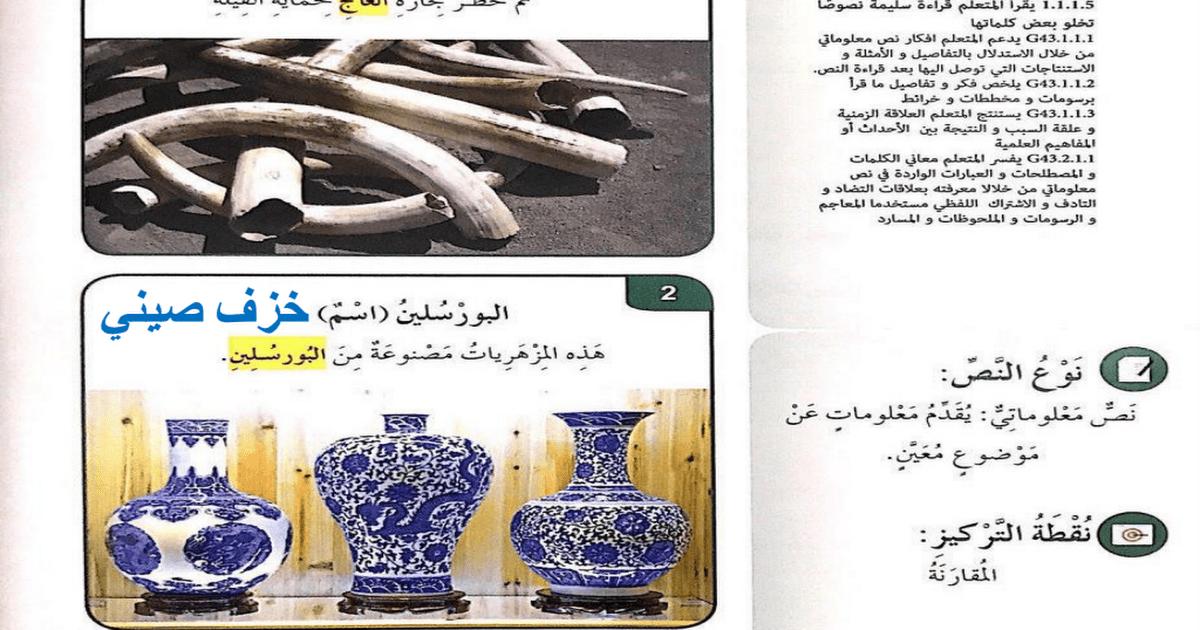 الحل لدرس عالم الدمى تاريخ وأسرار لغة عربية الصف الرابع الفصل الثالث