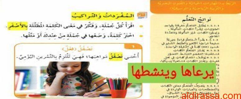 الصف الثالث الفصل الثاني حلول درس  فكر في حياتك لغة عربية