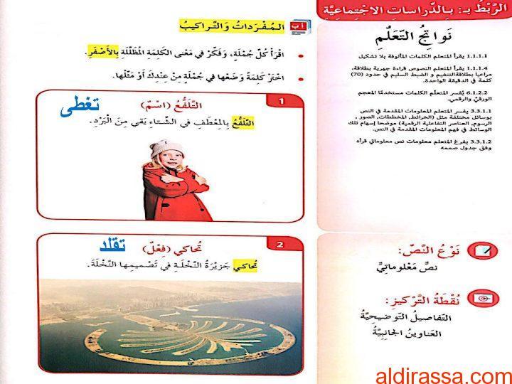 الصف الرابع الفصل الثاني حلول لغة عربية درس أزياء حول العالم بوربوينت